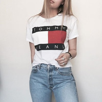 Tommy Jeans Crop Logo T-shirt