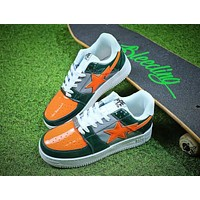 Bape Sta Sneakers Green Orange Shoes