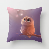 Little Guardian Throw Pillow by Rihards Donskis