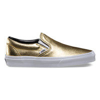 Metallic Leather Slip-On   Shop Classic Shoes at Vans