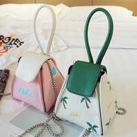 Women PU Leather Leaves Clutches Bags Evening Bag Crossbody Bag