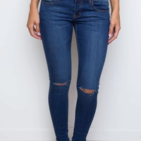 Second Nature Distressed Skinny Jeans