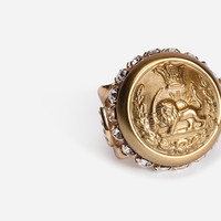 Jewellery and bijoux for women | Dolce&Gabbana - RING WITH CRYSTALS