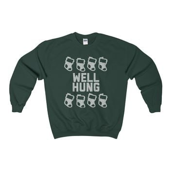 Ugly Christmas Sweater - Well Hung Sweatshirt