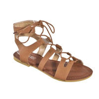 """Always My Style"" Lace Up Gladiator Tan Sandals"