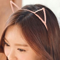 Cat Ear Hairand 5 Colors Stylish Women Girls Cat Ears Headband Hairband Sexy Head Band Self Photo Prop Hair Band Accessories
