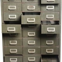 Industrial Army-Green Card Catalog - One Kings Lane - Vintage & Market Finds - Furniture