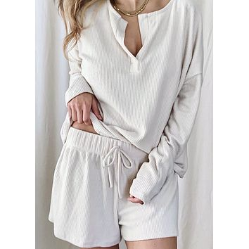 Ultra Soft Rib Knit Lounge Set