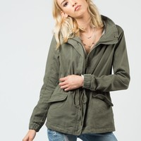 Front Tie Army Jacket