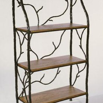 South Fork Forged Iron Baker's Rack with Optional Shelves (Pine, Oak, Glass, Copper)