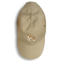 Borzoi Russian Greyhound Embroidered Baseball Cap BB3399BU-156
