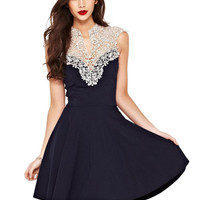 'The Love' Sheer Floral Lace Chiffon Dress