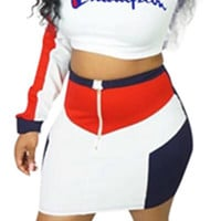 Champion Pull Over Crop Top Dress Skirt