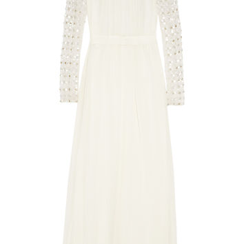 Temperley London - Angeli embellished silk-chiffon and tulle gown
