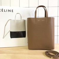 Kuyou Gbt09924 Celine Baby Cabas Book Tote Bag In Two-tone Leather 6625 23-10-27cm