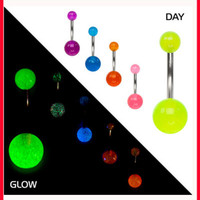 Belly Button Ring - Glow In The Dark - Florescent