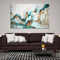 92648 - Abstract Wall Art   Marble Canvas Print   Abstract Watercolor Art   Refined Wall Art   Large Marble Wall Art   Gift for Her