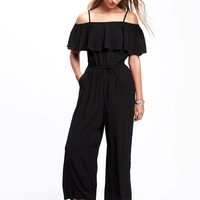 Ruffled Off-the-Shoulder Jumpsuit for Women | Old Navy
