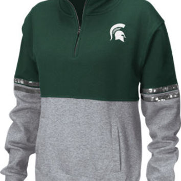 Women's Stadium Michigan Spartans College Rudy Quarter-zip Pullover | Finish Line