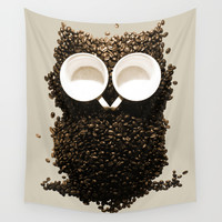 Hoot! Night Owl! Wall Tapestry by Marco Angeles