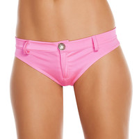 Extreme Booty Shorts with Button Front -Stripper Wear