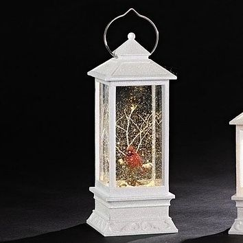 Roman LED Lantern with Cardinal Swirl-130357