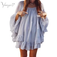 Short Flowy Chiffon Dress 2 Colors
