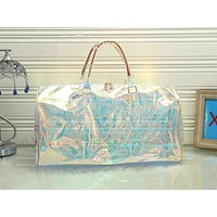 LV fashion hot seller ladies transparent print gradient casual shopping shoulder bag #1