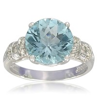 Sterling Silver Round-Shaped 10mm Gemstone Ring