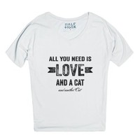 All You Need Is Love And A Cat And Another Cat-Unisex Snow T-Shirt