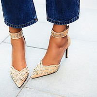 Jeffery Campbell + Free People Womens Party Favor Studded Heel