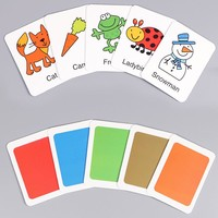 Cognitive card Learn English Word Puzzle Toy kid Educational Toys Baby Literacy Game Learning Cards Animal graphics color