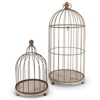 Metal Wire Bird Cages S/2