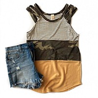 NEW! Camo, Stripe and Golden Tank