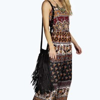 Isla Ethnic Print Coin Back Jumpsuit