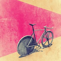 """Track / Fixie"" - Art Print by Calvin Sun"