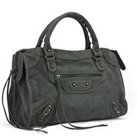 Sulandy@ Women's New Ladies Women Fashion Hobo Faux Leather Handbag Tote Shoulder Bag Purse (grey(Faux Suede))