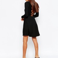 Club L Skater Dress With Extreme Lace Up Back