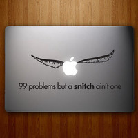 harry potter snitch macbook decals mac decal macbook pro decal macbook air decals ipad iphone 1 2 3 4 5 stickers decal mac apple stickers
