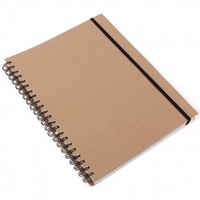 Kraft A4 divider notebook with ruled pages - Notebooks - Stationery