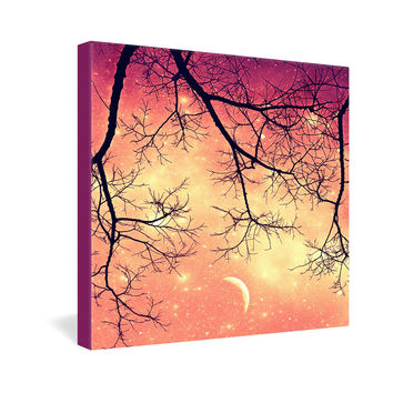 Shannon Clark Twinkley Pink Gallery Wrapped Canvas