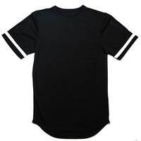 Thread Workshop Jersey Long Tail Extended T-shirt Black
