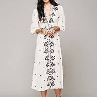 Free People Womens Embroidered Fable Dress