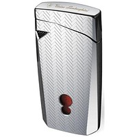 Tonino Lamborghini Magione Chrome with Interwoven Pattern Torch Flame Cigar Lighter