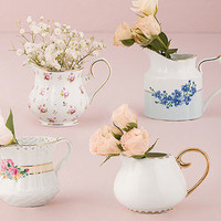 Vintage Tea Set Vases (Set of 4)