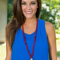 Bead The Competition Necklace, Red