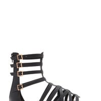 Caged Gladiator Sandals