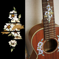 Hibiscus Fret Marker For Tenor Ukulele Inlay Stickers Decals