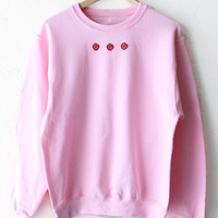 Strawberry Patch Sweater