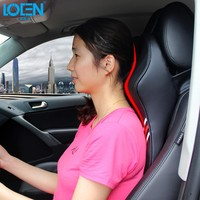 LOEN Hot Sell 3D Memory Foam Car Headrest Pillow Neck Support with Removable Cover